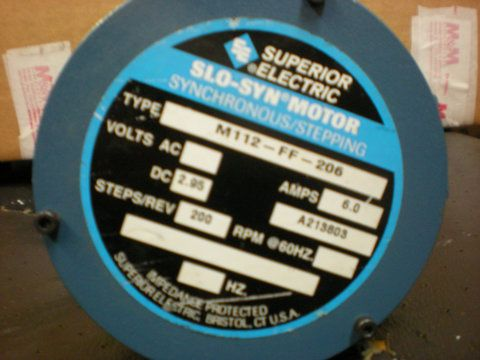 Used M112 Ff 206 Superior Electric Slo Syn Motor