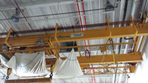 Chicago Industrial Overhead Tram Rail Crane