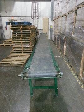 Rapistan Conveyor Belt System 25 ft lg x 18 in W