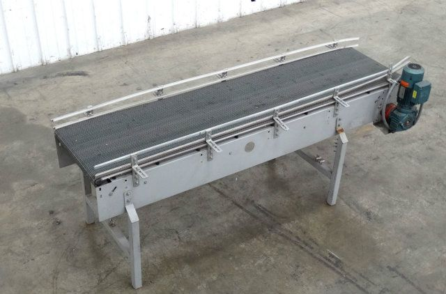 Used 20 Inch Wide x 8 Foot Long Plastic Chain Conveyor