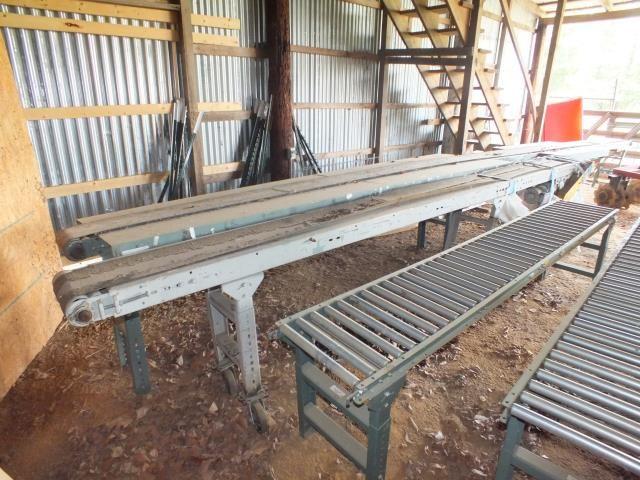 Used 10 Inch Wide x 16 Foot Long Belt Conveyor