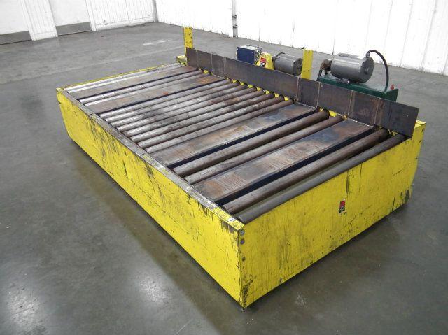 Pallet Jack Loading Pallet Conveyor Dual Loading