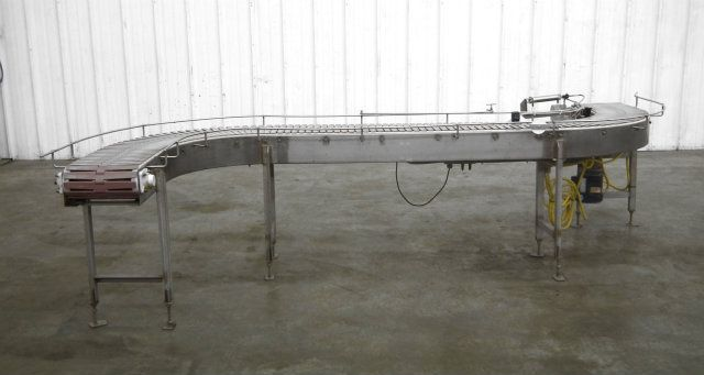 S Curve Tabletop Plastic Chain Conveyor 12