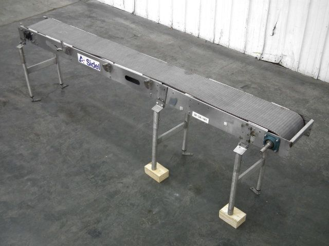 Used Sidel Plastic Chain Conveyor 136 inch x 13 inch