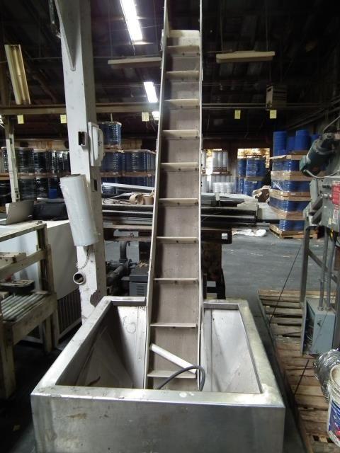 Stainless Steel Cleated Elevator Conveyor Hopper