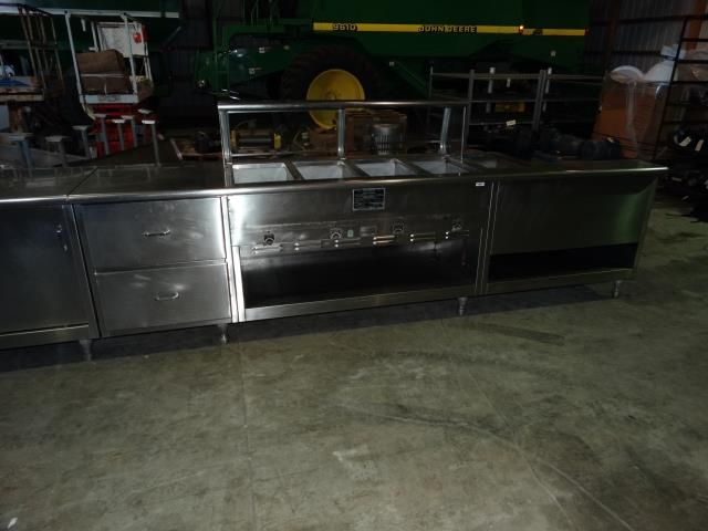 Used Thurmaduke CCSR Gas Steam Well Buffet Table - 4 well gas steam table