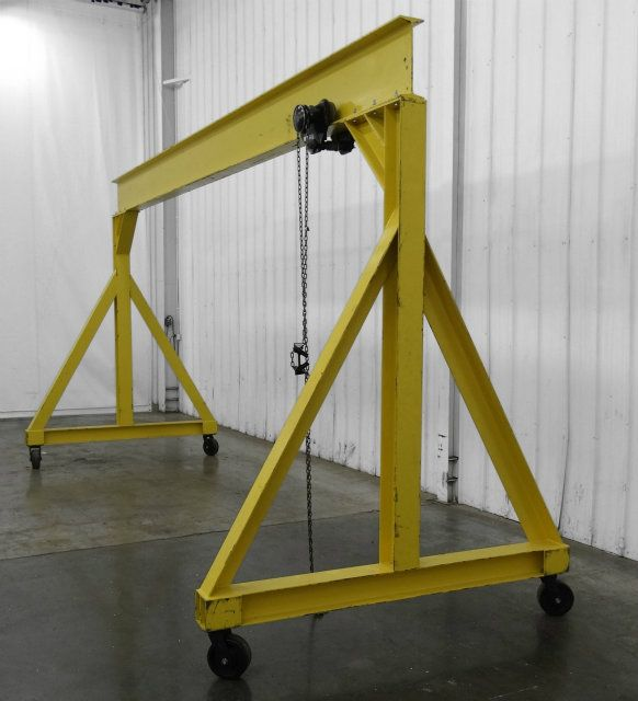Used 3 Ton Gantry Lift With Trolley On A Frame