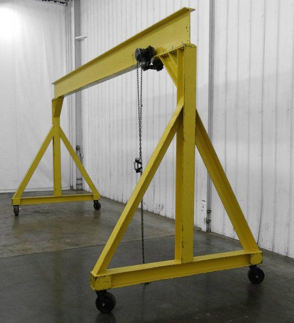 3 Ton Gantry : Used ton gantry lift with trolley on a frame