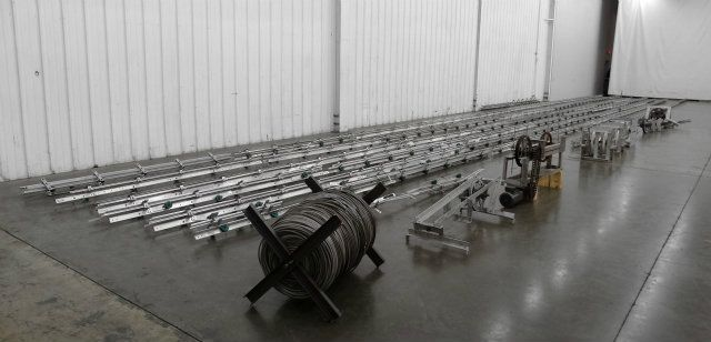 660 Feet Long x 3 Inch Wide Cable Conveyor