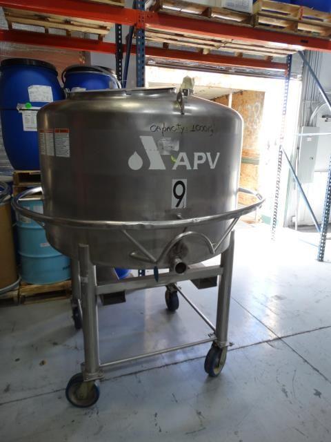 APV 250 Gallon Stainless Steel Single Wall Tank