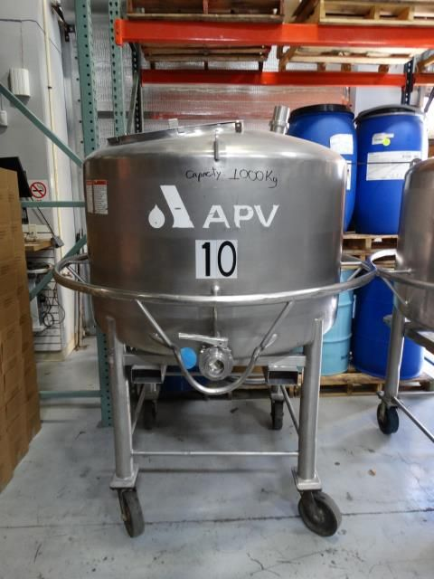 APV 250 Gallon Stainless Steel Single Wall Tank