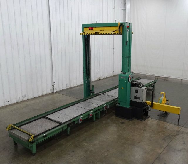 Signode MD-BPS Pallet Strapper and Conveyor