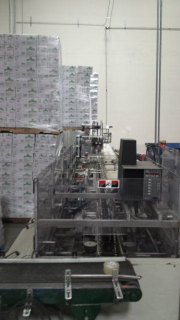 Can Labeling and Tray Packing Line