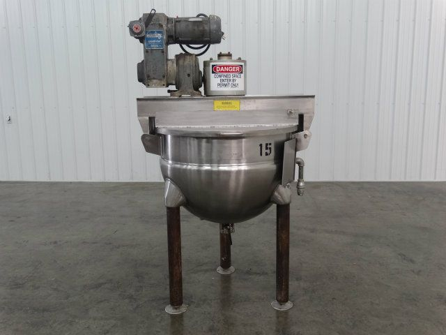 Hamilton SA 80 Gallon Jacketed Kettle w Agitation