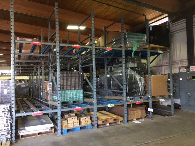 Used Gravity Feed Pallet Racking