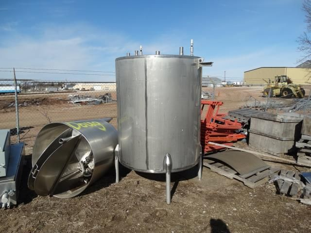 Stainless Steel Single Wall Tank 500 Gallons
