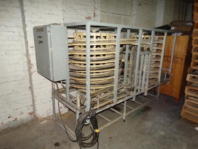 Dual Seven Tier Spiral Cooling Conveyor