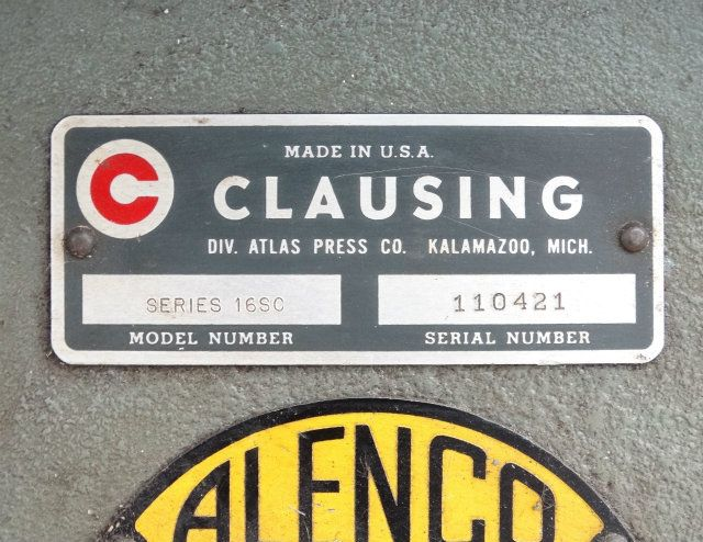 atlas press co serial number guide