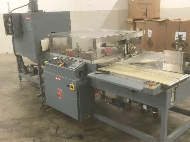 used a 27a shanklin a27a l bar sealer and t7xl heat tunnel rh sigmaequipment com Shanklin Machinery Omni Shanklin Wrapper