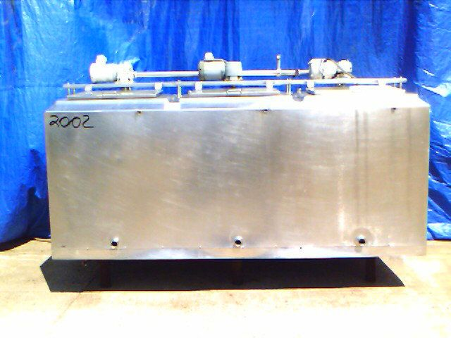 1200 Gallon 3 Compartment Stainless Steel Tank