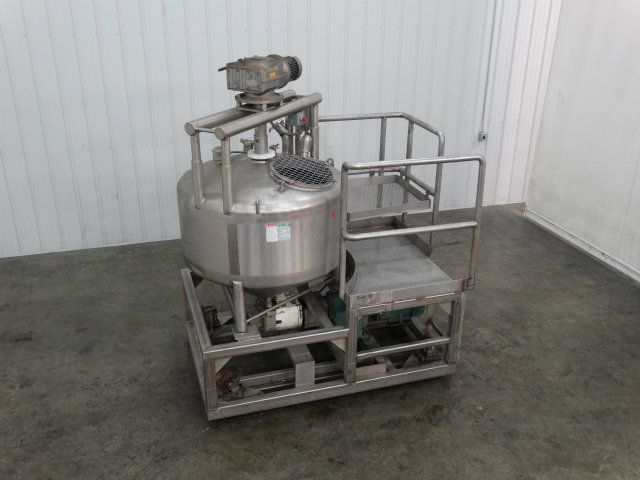 APV CCA 160 Gallon Stainless Single Wall Mix Tank