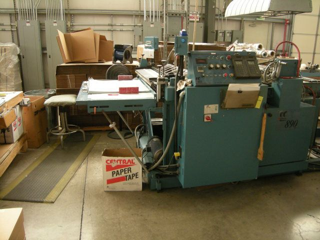 Fin Kon 890-41 Flatbed Polybag Mailer Roll Machine