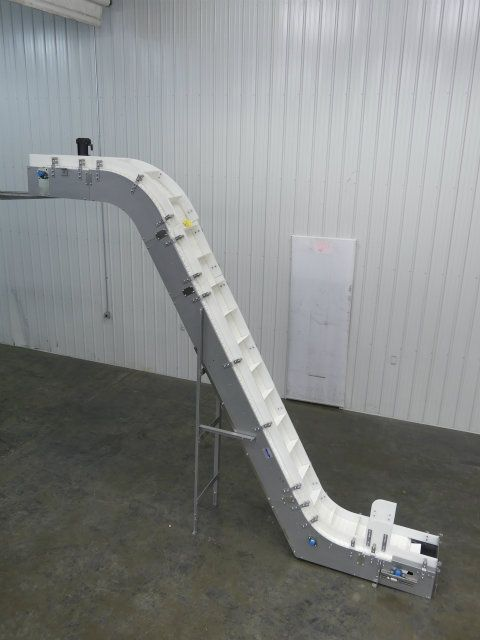 Nercon 12 Inch Wide Cleated Incline Conveyor