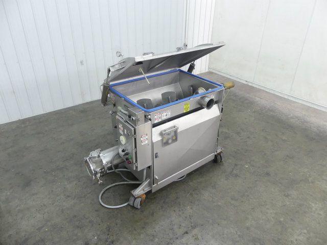 Used Mepaco 420V 1000 Pound SS Mixer Vacuum Stuffer