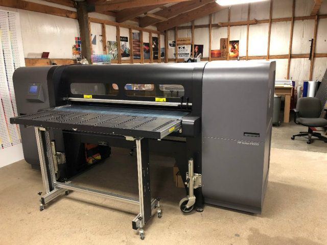 Used HP Scitex FB550 Industrial Flatbed Printer