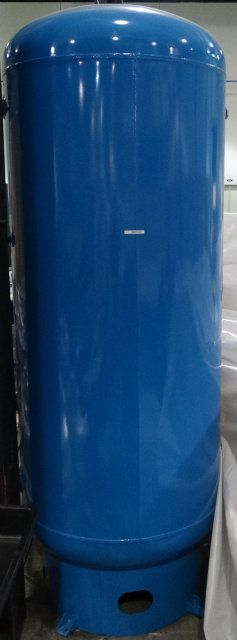 Used 400 Gallon Vertical Steel Air Compressor Tank