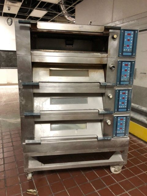 Polin Stratos 4060 Stainless Steel 4 Deck Oven