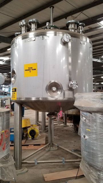 Feldmeier 1000 Gallon 316 Stainless Steel Mix Tank