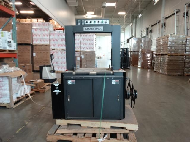 Used Polychem GP33C Semi Automatic Arch Case Stapper