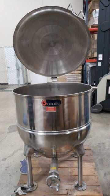 Groen FT125 Direct Steam Kettle 23 Jacketed