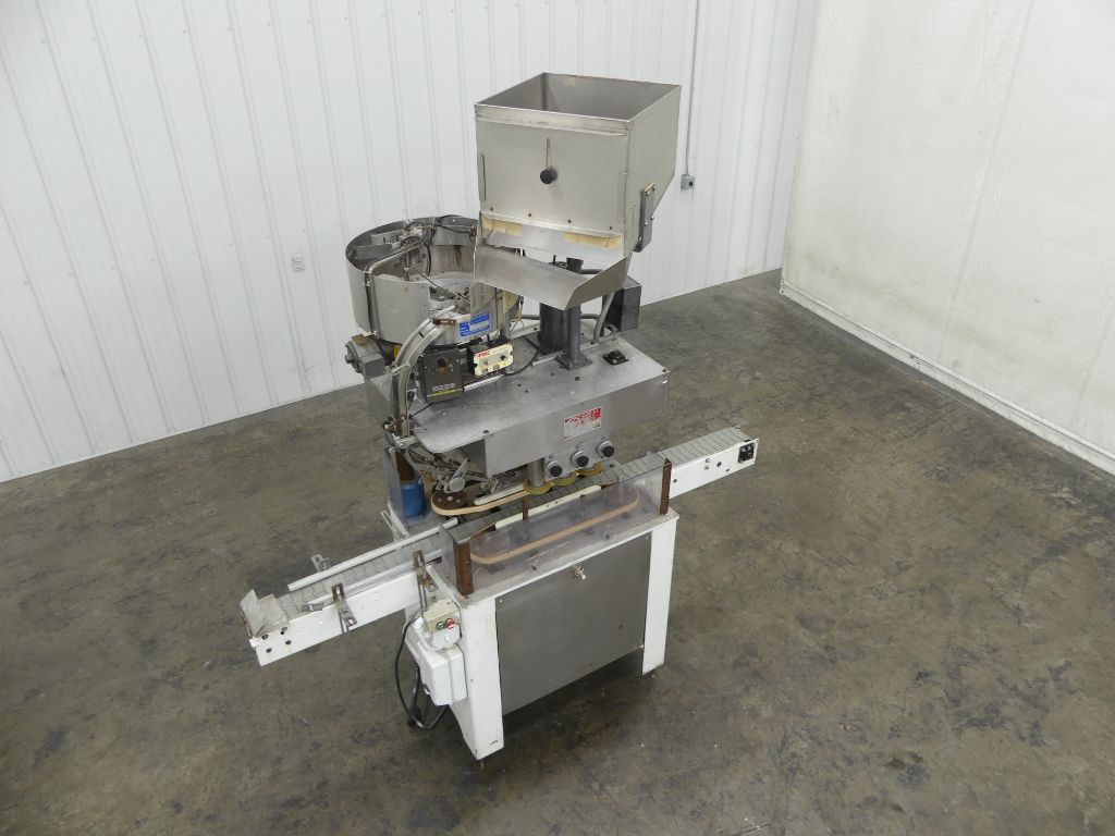 Kaps All A 6 Spindle Inline Capper with Sorter