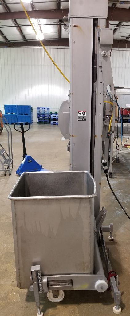 Reiser V1 B Automatic Stainless Steel Tote Lift