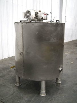 160Gal Stainless Steel Jacketed Mix Tank