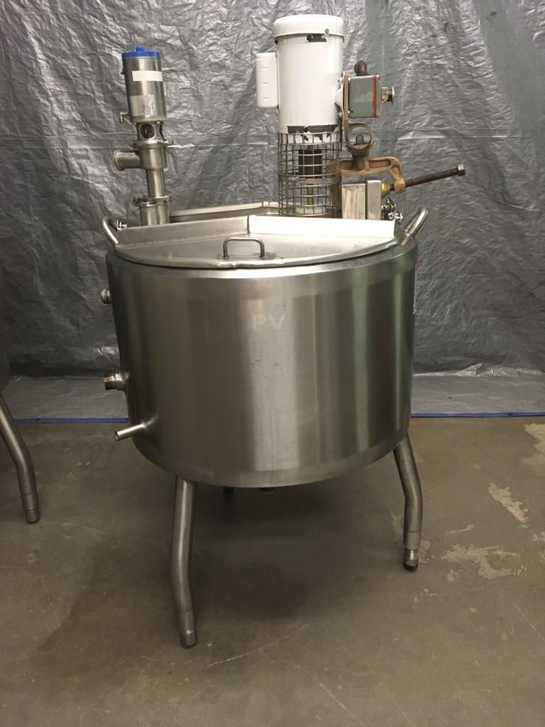 APV 50 Gallon Stainless Steel Jacketed Kettle