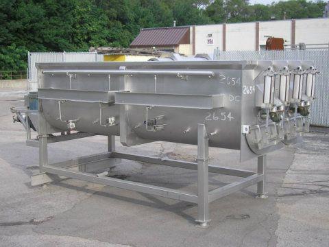 10000 Lb Stainless Steel Ribbon Blender