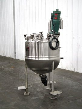 Lee 75 Gallon Half Jacketed Mixing Kettle SS