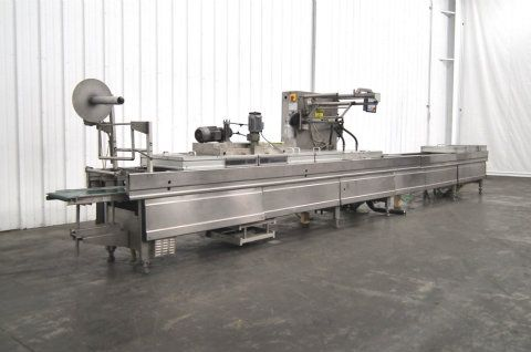 used multivac r530 horizontal thermoforming sealer rh sigmaequipment com Packaging Machine Thermoforming Machine