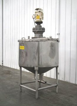 380 Gal Stainless Single Wall Mixing Tank