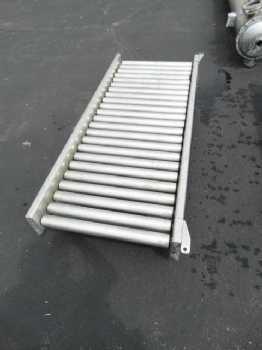 Roller conveyor on wheels photo