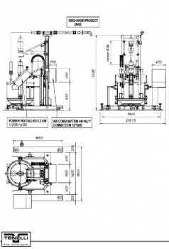 1 Pneumatic pump TSB 400